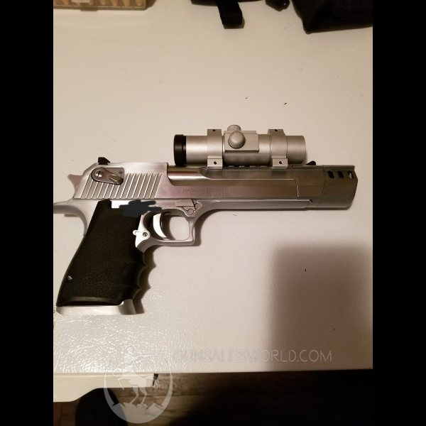 Desert Eagle. 50AE with muzzle brake