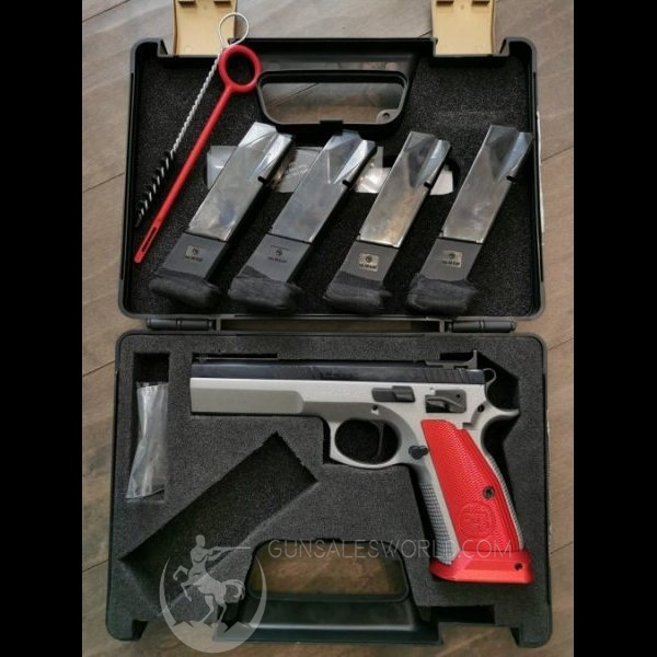 CZ 75 TS tactical sport .40 cal S&W fully upgraded by gunsmith 1.5lb trigger 4 mags